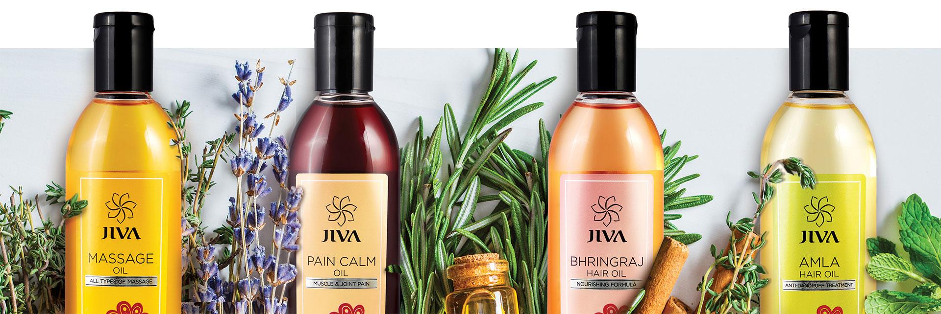illustration - set of oils from Jiva